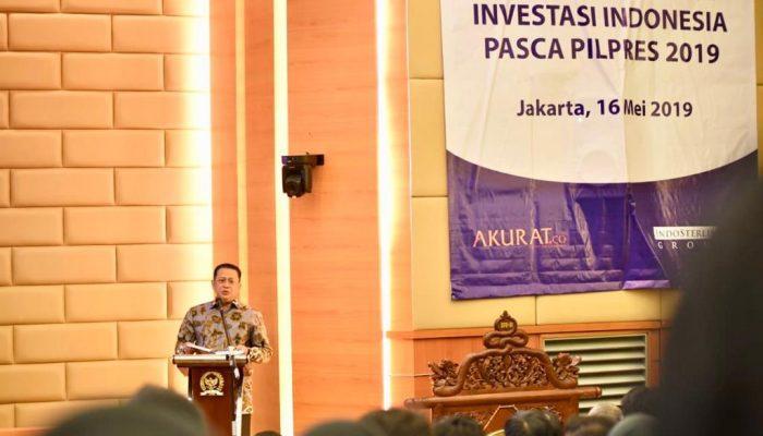 Bamsoet Peran Aktif Swasta Tentukan Pertumbuhan Ekonomi Indonesia