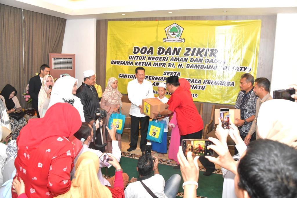 Ketua MPR RI Bambang Soesatyo meyakini menjelang maupun sesudah pelantikan Presiden - Wakil Presiden 20 Oktober 2019, Indonesia akan tetap aman, damai, dan