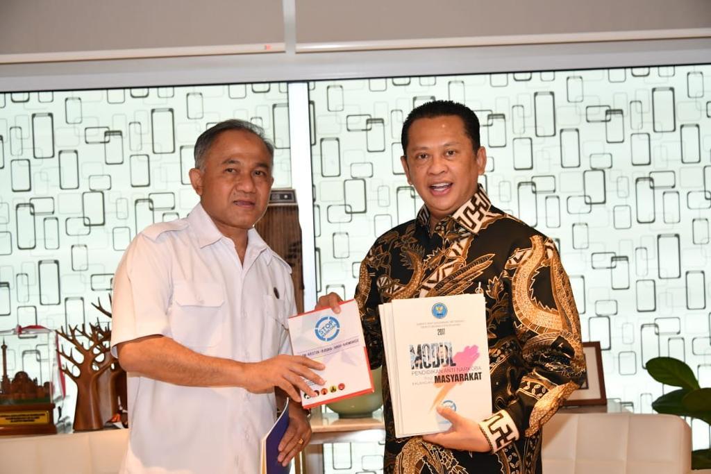 Ketua MPR RI Bamsoet dan Kepala BNN Heru Winarko