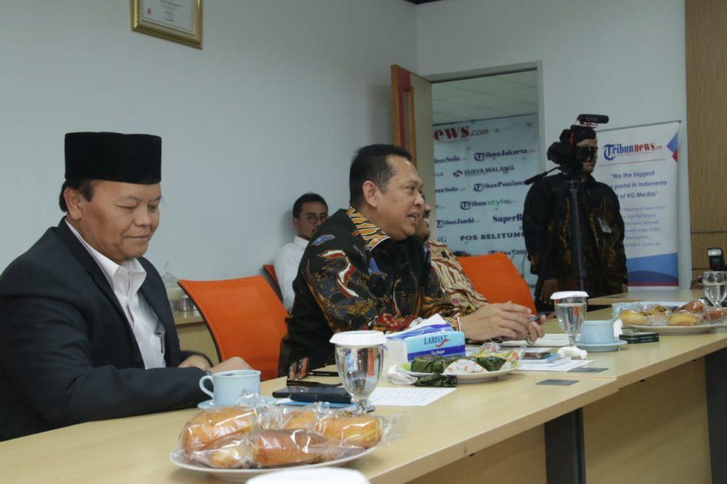 Ketua MPR RI Bambang Soesatyo kunjungan ke Tribunnews
