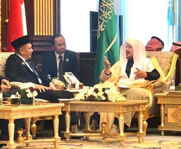 Ketua MPR RI Bamsoet Ketua Majelis Ash Shura Arab Saudi (Consultative Assembly of Saudi Arabia), Dr. Abdullah Bin Muhammad Al Ash-Sheikh, di Kantor Parlemen Arab Saudi