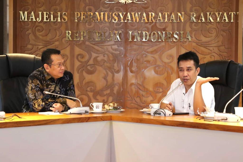 Ketua MPR RI Bambang Soesatyo bertemu ProDEM