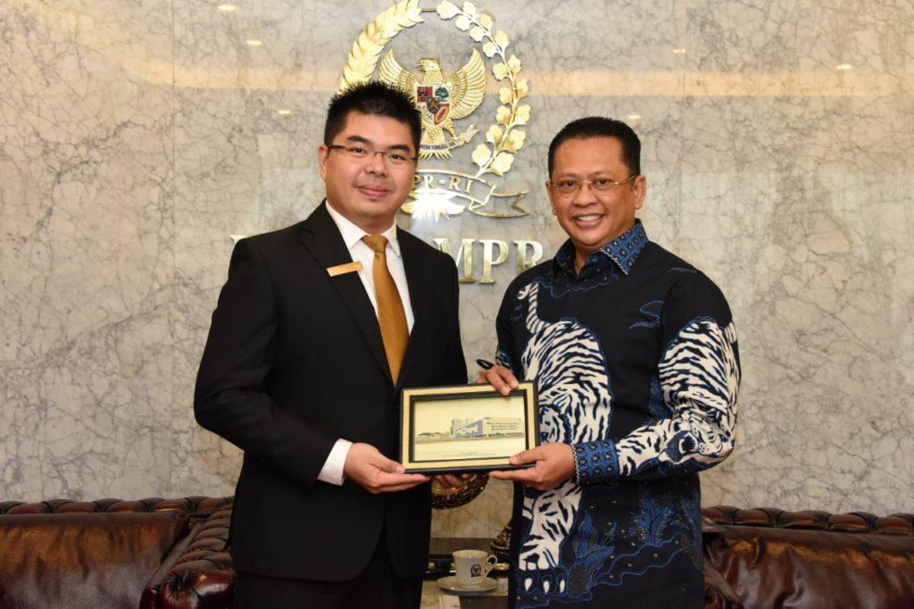 Bamsoet saat menerima pengurus Junior Chamber International Indonesia