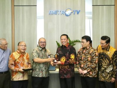 Ketua MPR RI Bambang Soesatyo visit media indonesia gruop metro tv