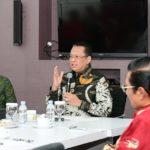 MPR RI Bamsoet Media Visit ke TV One
