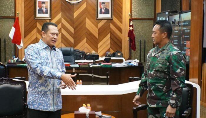 Bertemu KASAD TNI, Bamsoet Dukung TNI-Polri Terlibat Aktif Dalam Vaksinasi Massal Covid-19