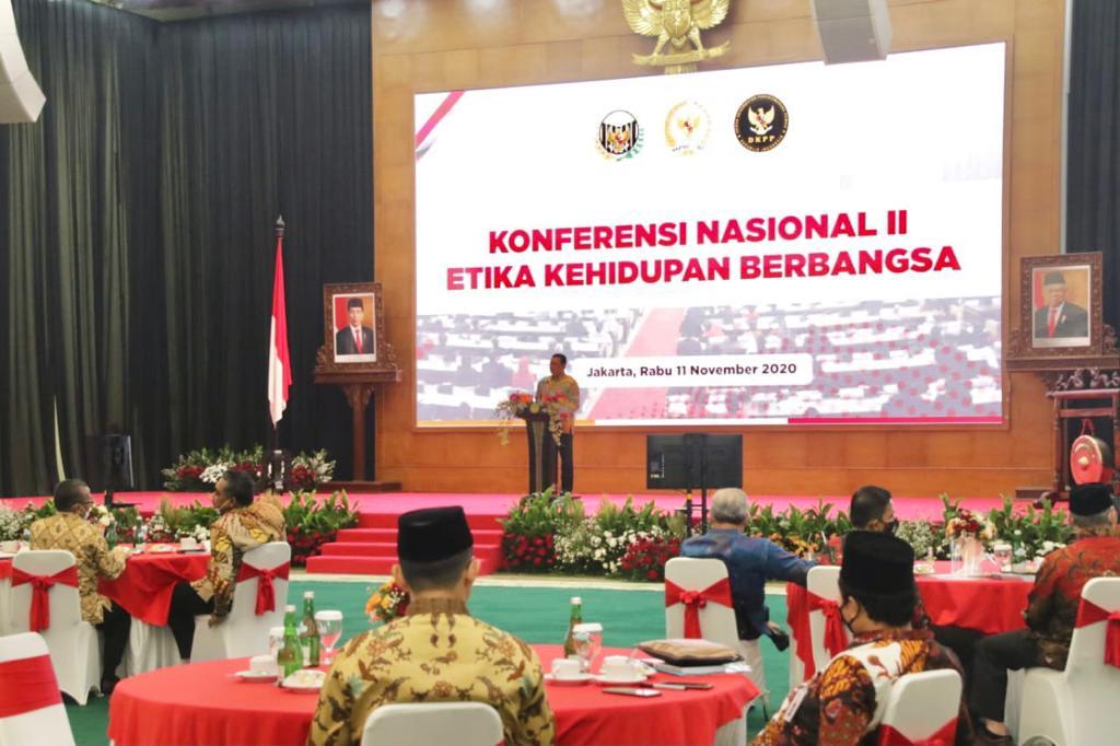 Konferensi Nasional II Etika Kehidupan Berbangsa, Bamsoet Dorong Pemerintah dan DPR RI Selesaikan RUU Etika Penyelenggara Negara