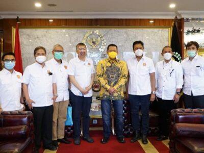 Bamsoet saat menerimaDewan Pengurus Pusat Real Estat Indonesia (DPP REI)